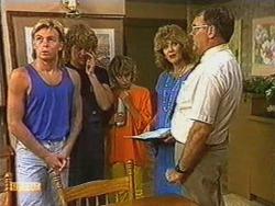 Scott Robinson, Henry Ramsay, Charlene Mitchell, Madge Bishop, Harold Bishop in Neighbours Episode 0723