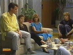 Paul Robinson, Gail Robinson, Madge Bishop, Henry Ramsay in Neighbours Episode 0723