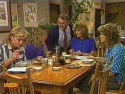 Scott Robinson, Charlene Mitchell, Harold Bishop, Madge Bishop, Henry Ramsay in Neighbours Episode 0723