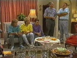 Henry Ramsay, Scott Robinson, Paul Robinson, Jim Robinson, Harold Bishop in Neighbours Episode 0723