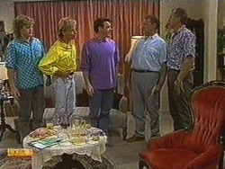 Henry Ramsay, Scott Robinson, Paul Robinson, Harold Bishop, Jim Robinson in Neighbours Episode 0723