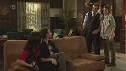Emilia Jovanovic, Lucas Fitzgerald, Toadie Rebecchi, Sonya Mitchell in Neighbours Episode 6296