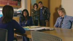 Kate Ramsay, Priya Kapoor, Sophie Ramsay, Paul Robinson, Andrew Robinson in Neighbours Episode 6298