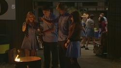 Natasha Williams, Chris Pappas, Andrew Robinson, Summer Hoyland in Neighbours Episode 6298