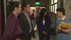Kate Ramsay, Paul Robinson, Priya Kapoor, Sophie Ramsay in Neighbours Episode 6300