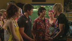 """Cleo Beltran, Chris Pappas, Dale """"Macca"""" McGregor, Andrew Robinson in Neighbours Episode 6302"""