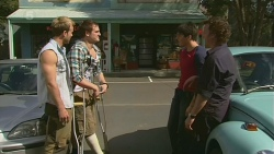Dane Canning, Kyle Canning, Chris Pappas, Lucas Fitzgerald in Neighbours Episode 6304
