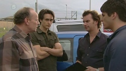 Warren Burrell, Blake Burrell, Lucas Fitzgerald, Chris Pappas in Neighbours Episode 6304