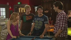 Natasha Williams, Andrew Robinson, Chris Pappas, Blake Burrell in Neighbours Episode 6305