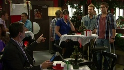 Paul Robinson, Danielle Paquette, Dane Canning, Kyle Canning in Neighbours Episode 6306