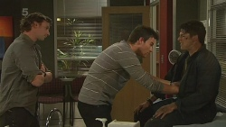 Lucas Fitzgerald, Rhys Lawson, Chris Pappas in Neighbours Episode 6307