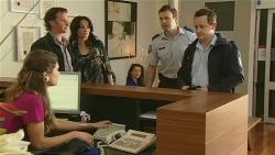 Lucas Fitzgerald, Emilia Jovanovic, Const. Ian McKay in Neighbours Episode 6310