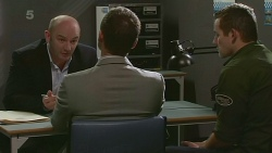 Supt. Duncan Hayes, Paul Robinson, Toadie Rebecchi in Neighbours Episode 6312