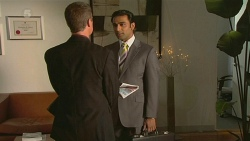 Paul Robinson, Ajay Kapoor in Neighbours Episode 6313