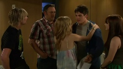 Andrew Robinson, George Pappas, Natasha Williams, Chris Pappas, Summer Hoyland in Neighbours Episode 6318
