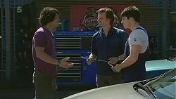 Aidan Foster, Lucas Fitzgerald, Chris Pappas in Neighbours Episode 6323