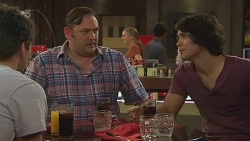 Chris Pappas, George Pappas, Aidan Foster in Neighbours Episode 6323