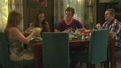 Sonya Mitchell, Jade Mitchell, Kyle Canning, Toadie Rebecchi in Neighbours Episode 6323