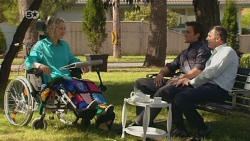 Elaine Lawson, Rhys Lawson, Karl Kennedy in Neighbours Episode 6326