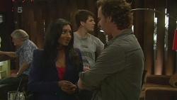 Priya Kapoor, Chris Pappas, Lucas Fitzgerald in Neighbours Episode 6329