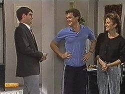 David Bishop, Paul Robinson, Gail Robinson in Neighbours Episode 0726