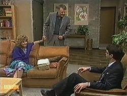 Madge Bishop, Harold Bishop, David Bishop in Neighbours Episode 0728