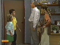 Katie Landers, Todd Landers, Jim Robinson, Beverly Marshall in Neighbours Episode 0729