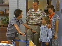 Todd Landers, Jim Robinson, Katie Landers, Beverly Robinson in Neighbours Episode 0730