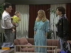 Des Clarke, Jamie Clarke, Jane Harris, Mike Young in Neighbours Episode 0731