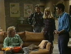 Henry Ramsay, Mike Young, Jane Harris, David Bishop in Neighbours Episode 0733