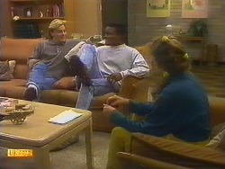 Scott Robinson, Pete Baxter, Charlene Robinson in Neighbours Episode 0750