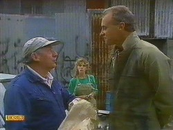 Rob Lewis, Charlene Mitchell, Jim Robinson in Neighbours Episode 0750