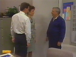 Paul Robinson, Gail Robinson, Rob Lewis in Neighbours Episode 0750