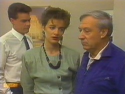 Paul Robinson, Gail Robinson, Rob Lewis in Neighbours Episode 0751