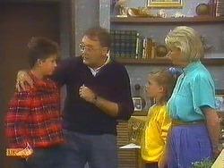 Todd Landers, Harold Bishop, Katie Landers, Helen Daniels  in Neighbours Episode 0754