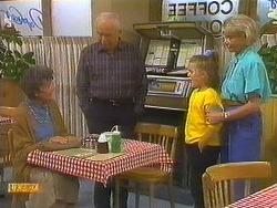 Nell Mangel, John Worthington, Katie Landers, Helen Daniels in Neighbours Episode 0754