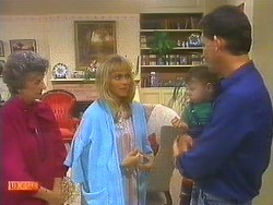 Nell Mangel, Jane Harris, Jamie Clarke, Des Clarke in Neighbours Episode 0755