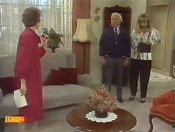 Nell Mangel, John Worthington, Jane Harris in Neighbours Episode 0756