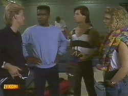 Scott Robinson, Pete Baxter, Mike Young, Rachel Fraser in Neighbours Episode 0756