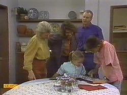 Helen Daniels, Beverly Marshall, Katie Landers, Jim Robinson, Todd Landers in Neighbours Episode 0757