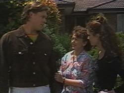 Cameron Hudson, Pam Willis, Gaby Willis in Neighbours Episode 1836