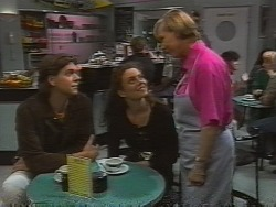 Cameron Hudson, Gaby Willis, Cathy Alessi in Neighbours Episode 1836