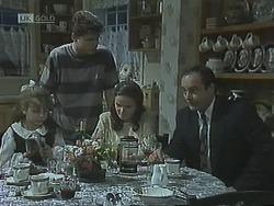 Hannah Martin, Michael Martin, Julie Robinson, Philip Martin in Neighbours Episode 1838