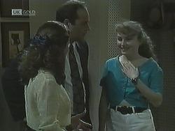 Julie Robinson, Philip Martin, Debbie Martin in Neighbours Episode 1838
