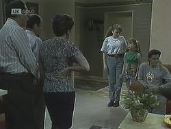 Philip Martin, Benito Alessi, Julie Robinson, Debbie Martin, Hannah Martin, Rick Alessi in Neighbours Episode 1838