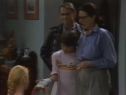 Phoebe Bright, Tom Merrick, Toby Mangel, Dorothy Burke in Neighbours Episode 1839
