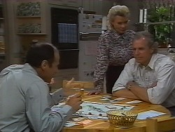 Benito Alessi, Jim Robinson, Helen Daniels in Neighbours Episode 1839
