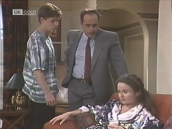 Michael Martin, Philip Martin, Julie Robinson in Neighbours Episode 1842