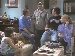 Toby Mangel, Tom Merrick, Dorothy Burke, Stephen Gottlieb, Phoebe Bright in Neighbours Episode 1842
