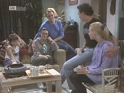 Toby Mangel, Dorothy Burke, Tom Merrick, Stephen Gottlieb, Phoebe Bright in Neighbours Episode 1843